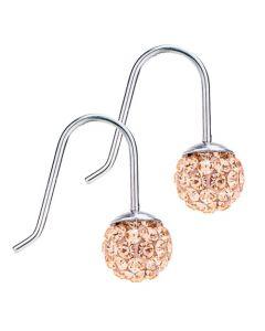 Blomdahl, Crystal Ball Golden Rose Ørekroge, Titanium