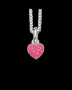 Girls Pink Hjerte Sterling Sølv Børnehalskæde fra Scrouples