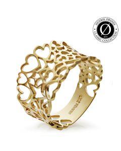 Star Heart 8 Karat Guld Ring fra Smykkekæden DMN044RG