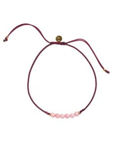 Stine A, Candy Armbånd, Coral/Bordeaux/Forgyldt