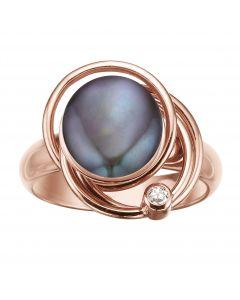 Rabinovich Magic Circles Ring, Peacock Perle, Rosa Forgyldt