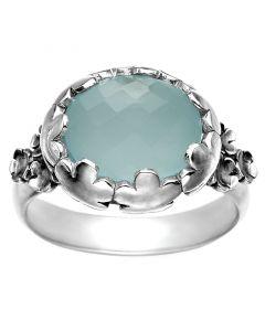 Rabinovich, Flower Nest Ring med Calcedon, Sølv