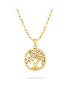 Livets Træ Forgyldt Sølv Halskæde fra Smykkekæden