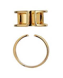 Stine A, Plain Open Ring, Forgyldt