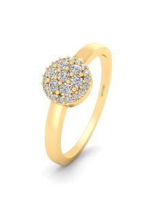 14 Karat Guld Ring fra Smykkekæden med Brillanter 0,125 Carat W/SI
