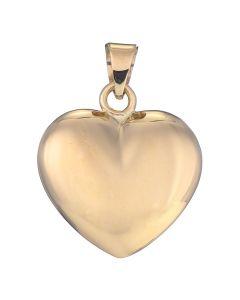 Hjerte Vedhæng 13 mm, 14 Karat Guld