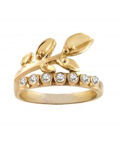 Rabinovich, White Beauty Ring, Forgyldt