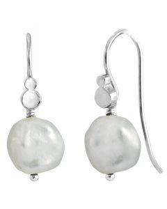 Rabinovich Baroque Hvide Perle Øreringe, Sølv