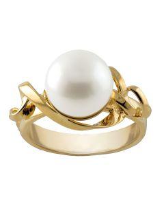 Rabinovich, Serpentine Ring, 14 Karat Guld