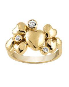 Rabinovich, Heart Alliance Ring, Forgyldt
