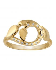 Rabinovich, Sparkling Leaves Ring, Forgyldt