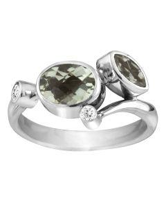 Rabinovich, Green Feature Ring, Sølv
