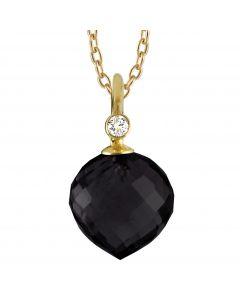 Rabinovich, Diamant & Black Spinel Halskæde, 14 Karat Guld