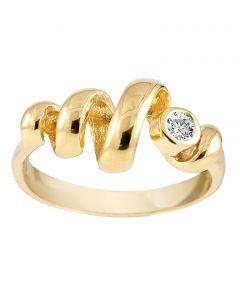 Rabinovich, Curly Diva Ring, Forgyldt