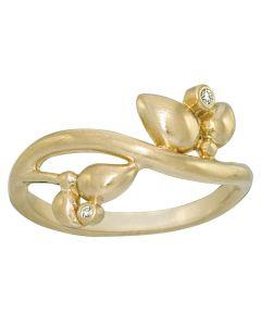Rabinovich, Diamond Star Ring, 14 Karat Guld