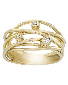 Rabinovich, Sparkling Dream Ring, 14 Karat Guld