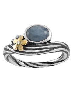 Rabinovich, Hawaii Ring, 14 Karat Guld/Sølv