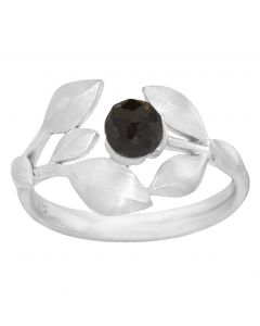 Rabinovich, Elegant Touch Ring, Black Spinel/Sølv