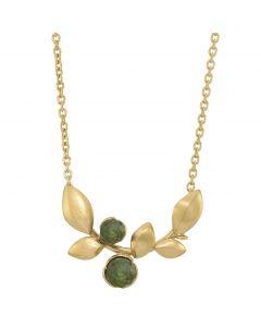 Rabinovich, Elegant Touch Halskæde, Green Serpentine/Forgyldt