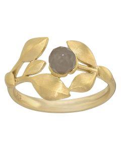 Rabinovich, Elegant Touch Ring, Grey Moonstone/Forgyldt