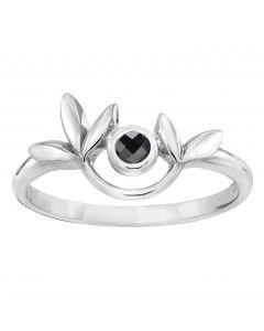 Rabinovich, Leafy Glaze Ring, Hematite/Sølv