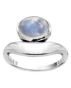 Rabinovich, Marble Blue Ring, Rainbow Moonstone/Sølv
