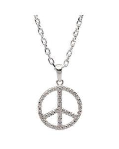 Peace Halskæde, 42/45 cm Kæde