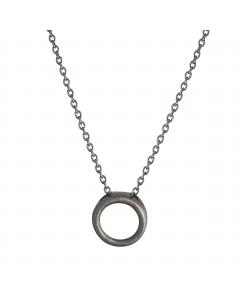 Nordahl, Icons Halskæde, 42/45 cm, Sort Sølv