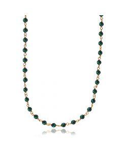 Miss Pearl Forgyldt Sølv Halskæde fra Izabel Camille med Grøn Malakit