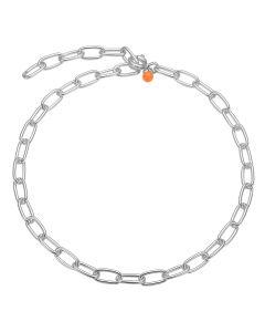 Enamel, Chain Link Armbånd, Sølv