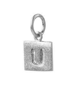 Pernille Corydon, Letter U Square Vedhæng, Sølv
