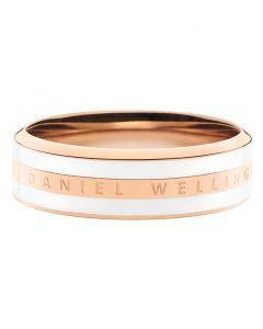 Satin White Rosa Guld Double Ring fra Daniel Wellington