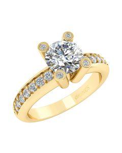 14 Karat Guld Ring fra Smykkekæden med Brillanter 1,3 Carat W/SI