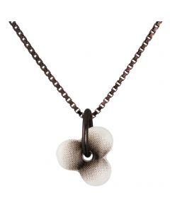 Scherning, Haze Halskæde, Hvid/Sort/Sort Sølv, 45cm Kæde