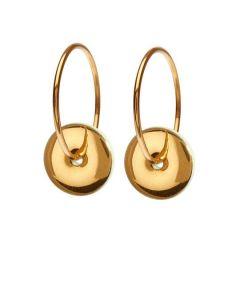 Joy Pistachio Gold Forgyldt Sølv Øreringe fra Scherning med Porcelæn