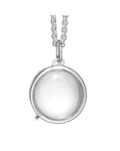 Treasure, Locket Rund, 14 mm, 60 cm Kæde, Sølv