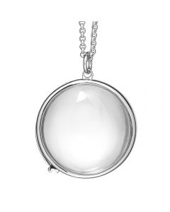 Treasure, Locket Rund, 22 mm, 60 cm Kæde, Sølv