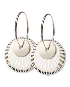 Splash Duo Silver Sterling Sølv Øreringe fra Scherning