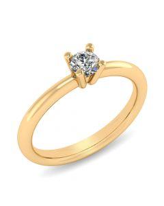 Henrik Ørsnes Design Fiona 14 Karat Guld Ring med Brillant 0,35 Carat W/VVS