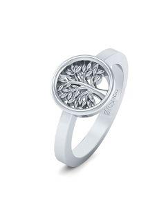 Smykkekæden Livets Træ Sterling Sølv Ring ORSN015S