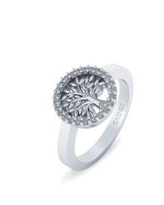 Smykkekæden Livets Træ Ring i Sterling Sølv ORSN016S
