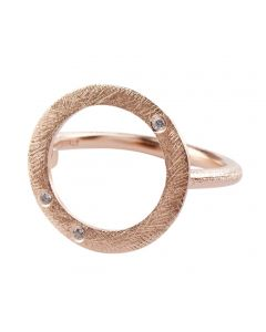 Pernille Corydon, Open Coin Stone Ring, Rosa Forgyldt