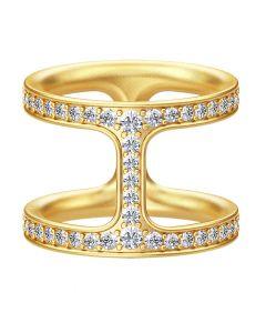 Julie Sandlau, Linea Double Ring, Forgyldt