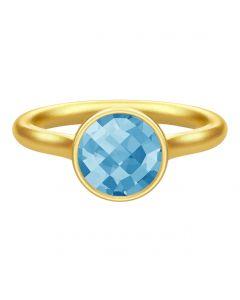 Julie Sandlau, Sweet Pea Ring, Ocean Blue/Forgyldt