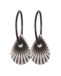 Scherning, Splash Teardrop Hoops, Black/Sort Sølv