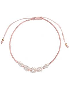 Stine A Flower Pearl Armbånd, Light Pink