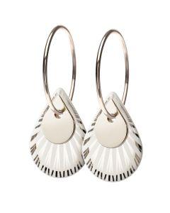 Splash Duo Drop Silver Sterling Sølv Øreringe fra Scherning
