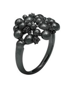Trine Wilkens, Blossom Dream Ring, Sort Sølv