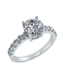 14 Karat Hvidguld Ring fra Henrik Ørsnes Design med Brillanter 2,31 Carat W/SI