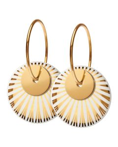Scherning Splash Duo Gold Forgyldt Sølv Ørestikker